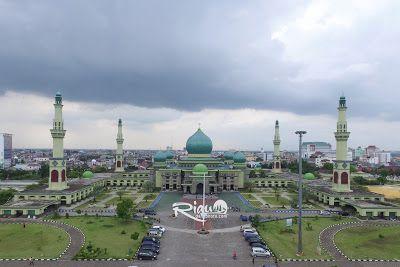 Photo Udara Mesjid Agung An Nur Pekanbaru