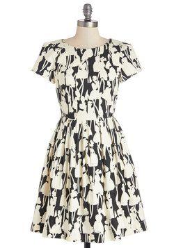 Optical Allusions Dress, #ModCloth