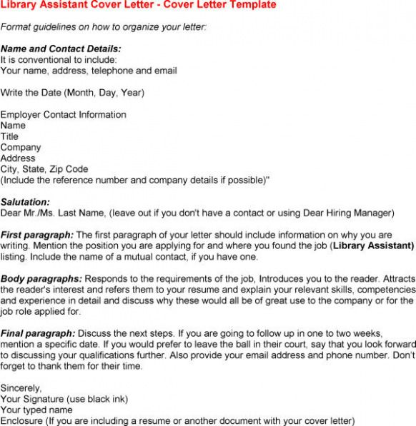 Cover Letter Template Library Assistant Writing A Cover Letter