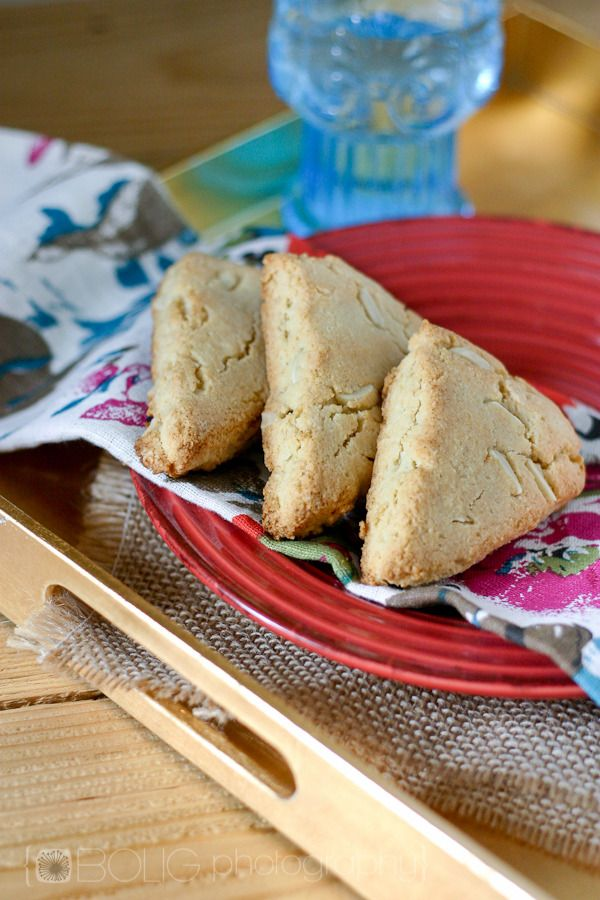 Paleo Almond Scones. Triple Almond Scones. Gluten Free. Grain Free.. ☀CQ #glutenfree