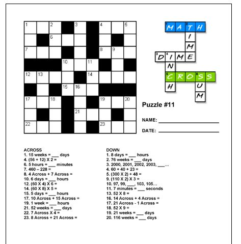 Worksheet Design A Crossword Puzzle With Mathematical Terms 72 best crosswords images on pinterest crossword puzzles education world numbercross puzzle