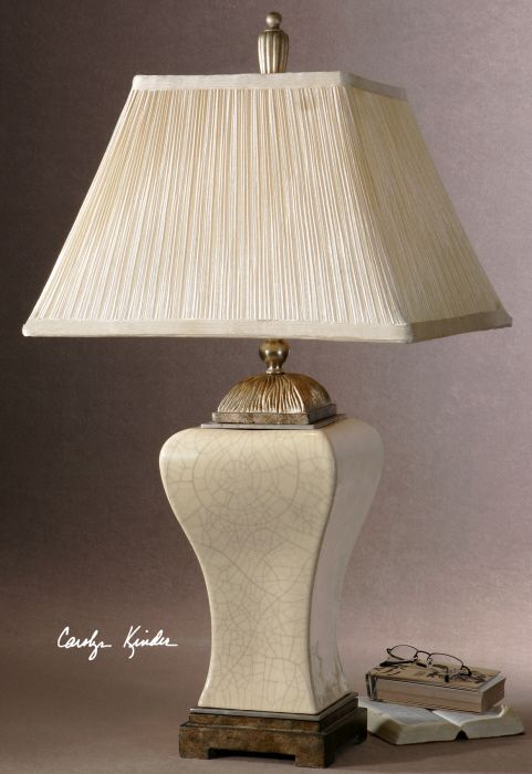 Lowest price online on all uttermost ivan porcelain table lamp in crackled aged ivory 27728