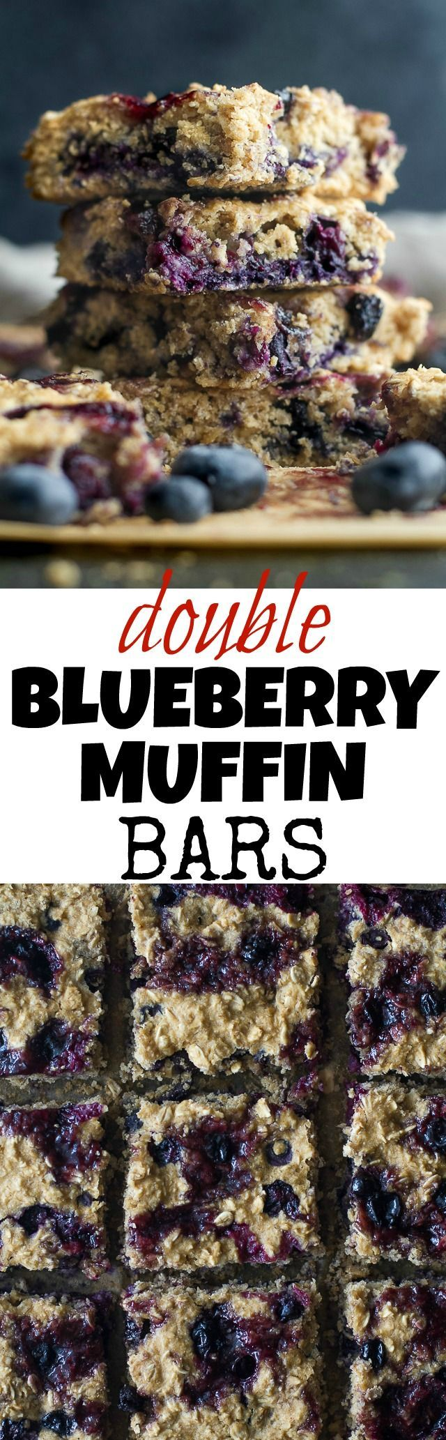 Double Blueberry Muffin Bars   Recipe   Blueberries ...