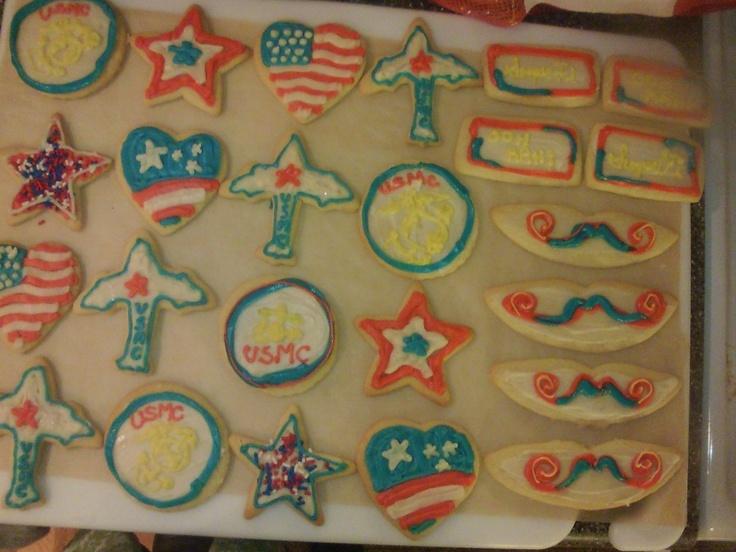 Marines Veterans Day Cookies, Ooh Rah, Semper Fi, American