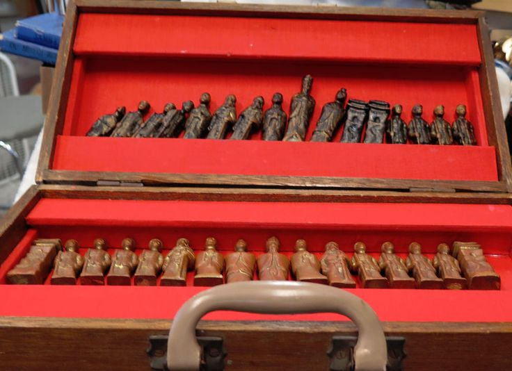 Incredible Solid Brass Chess Set made from Artillery Shells used in Korean War | Toys & Hobbies, Games, Chess | eBay!