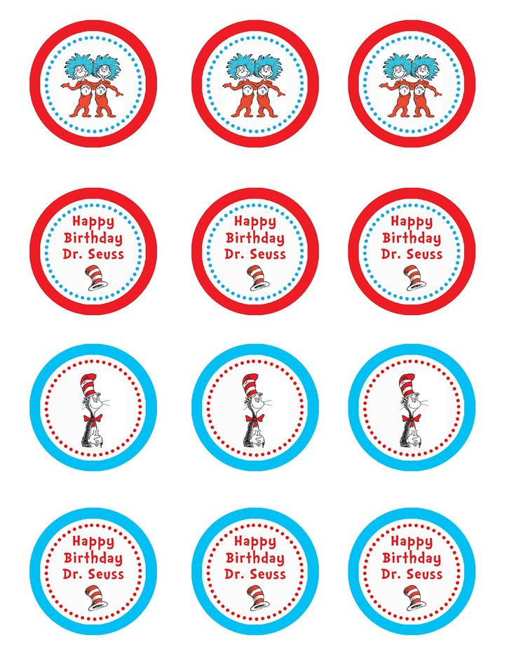 It is a photo of Juicy Free Dr Seuss Birthday Printables