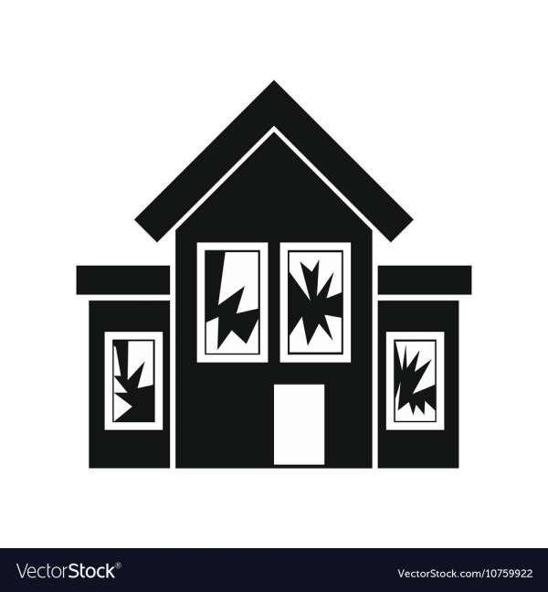 10 Broken House Icon Home Icon Icon Broken Window