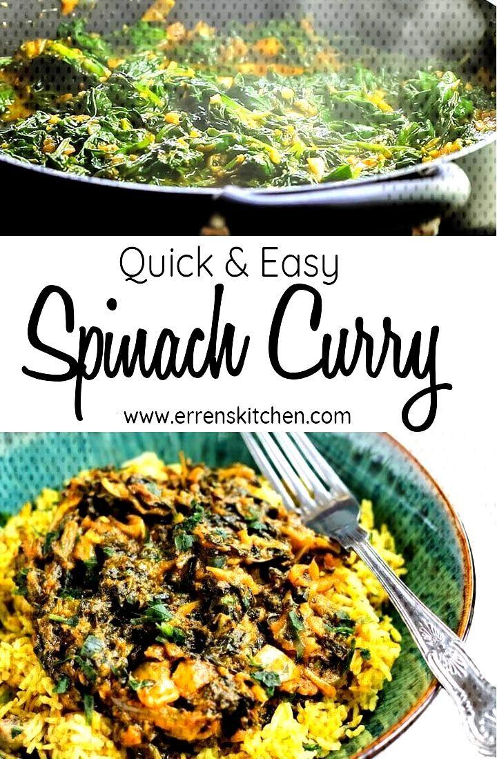 Epinards Epinards Rapide Facile Bahji Curry Saag New Au Et Saag Bahji Epinards Indian Food Recipes Vegetarian Indian Food Recipes Indian Side Dishes