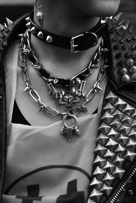 chokers and chains  #tumblr #punk #photography