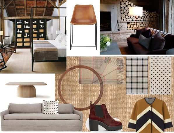 Rustic Refined Glamour mood board