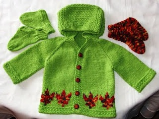 A special gift for a new baby, Fall in Canada, beautiful maple leaves, Callum will wear it when the leaves turn.