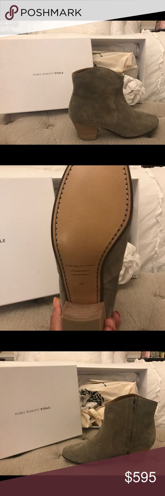 Isabel marant green olive suede dicker boot Authentic brand new Isabel Marant Dicker boot in an olive green suede color... perfect for the fall! And super comfortable Isabel Marant Shoes Ankle Boots & Booties