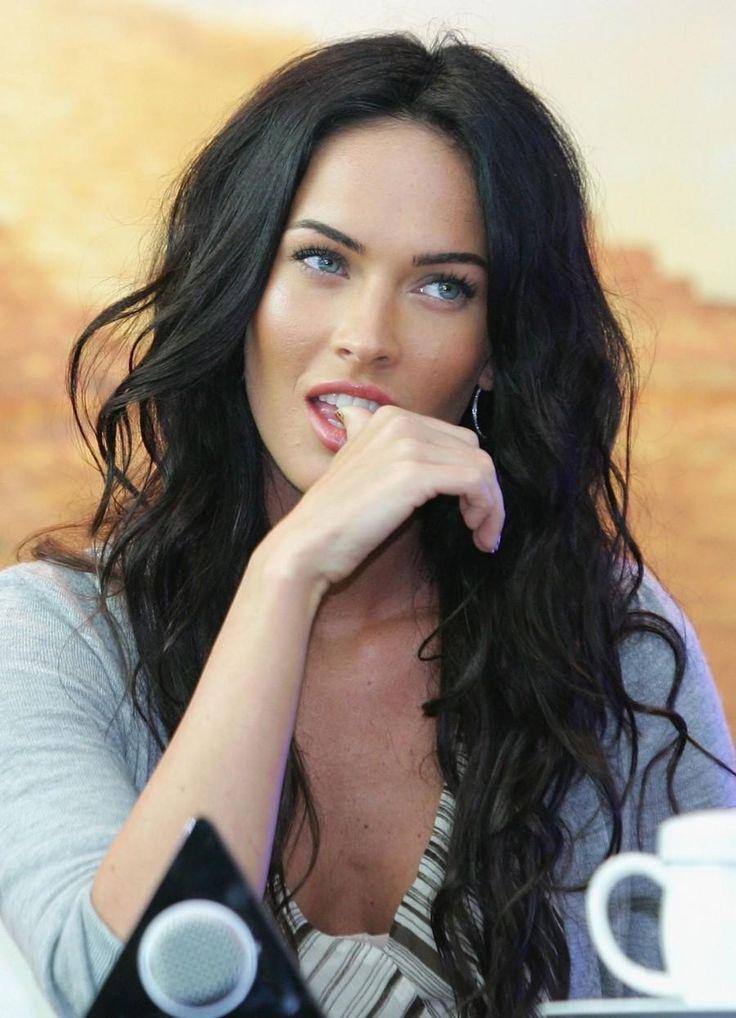 Dark hair with pale skin & blue eyes