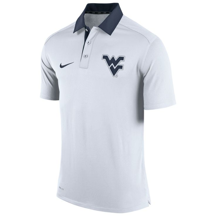 West Virginia Mountaineers NCAA Embroidered Logo Polyester Polo Shirt Chemise 0EuT4XcrE