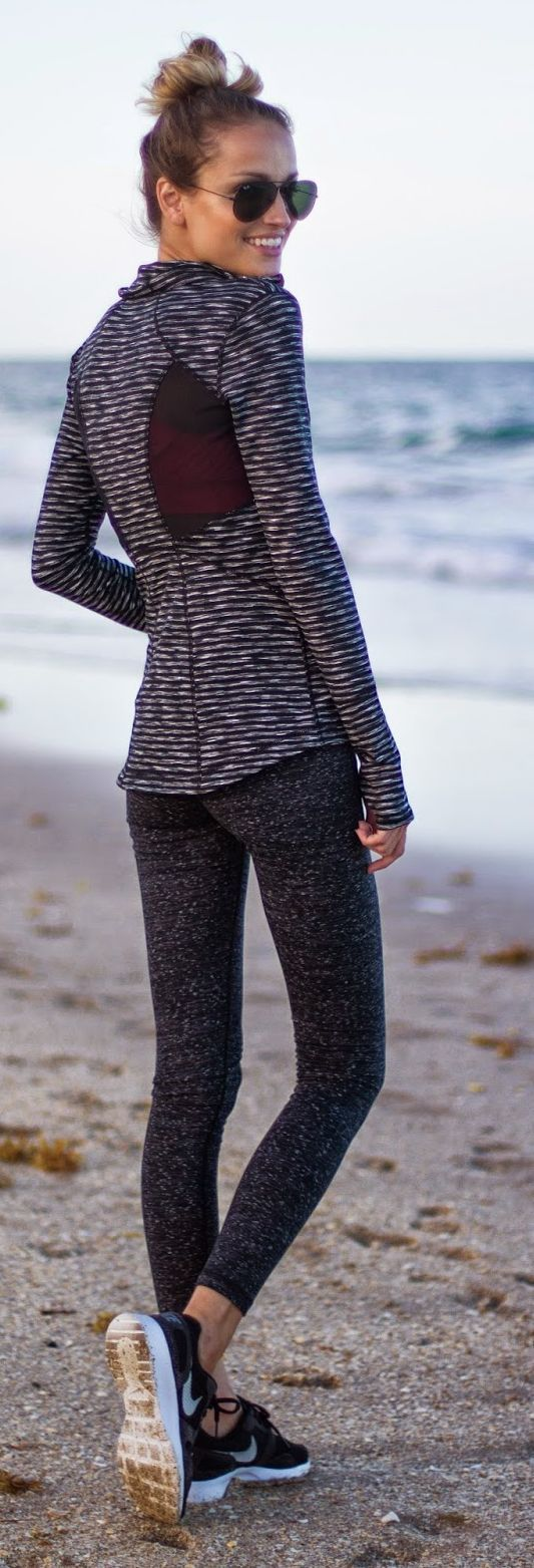 Dark Grey And Black Workout Style
