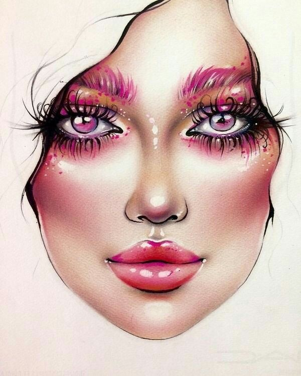 4cca23b1125 Pin de Gabriela Alejandra Pereira Jimenez en Maquillaje en 2019   Maquillaje  artístico, Dibujos de maquillaje y Maquillaje