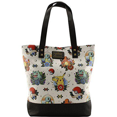Loungefly Pokemon Tattoo Tote Bag Beige – Pokemon Coin Purse & Pokemon Bag