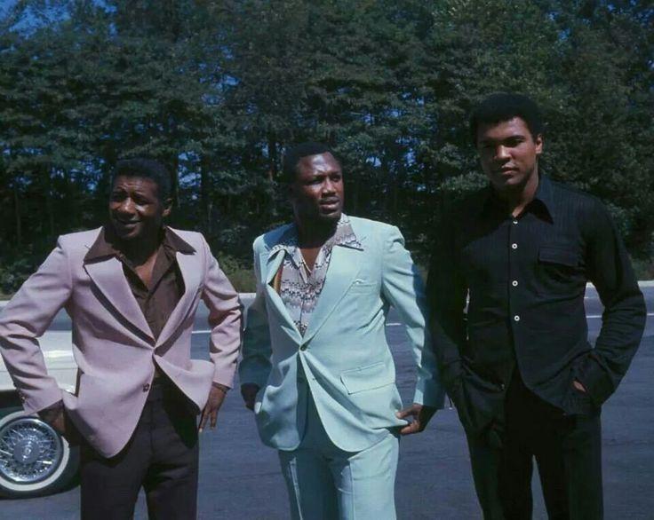 Floyd Patterson, Joe Frazier and Muhammad Ali.