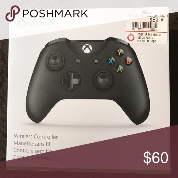 Brand New Black Xbox Controller Brand new, never opened, still sealed. Black Wireless Controller for Xbox one. Feel free to message me with any offer, before hitting the offer button. 😊 has Bluetooth for PC. Xbox Other