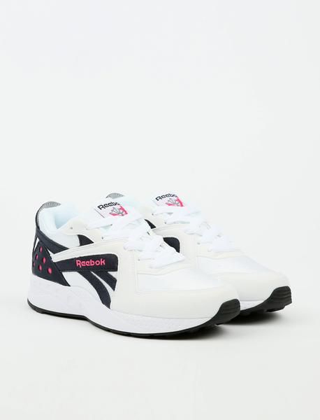 new concept 5d0df 3e68f Reebok Pyro - White Night Navy Pink Fusion Black