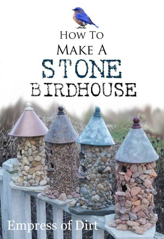 Birdhouses are a great way to attract all kinds of color and cheer to your yard or garden, but who wants to make a gaudy, factory-made ornament dangling around? The Empress of Dirt doesn't, and she's got some wonderful designs for unique, handmade birdhouses that you can do yourself with some inexpensive home improvement supplies …