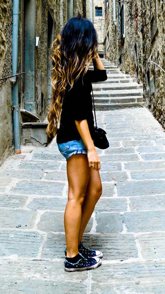 Esquema Complementario DivididoChocolates Trifles, Ombre Recipe, Hair Colors, Ombre Hair, Long Hair, Style Hair, Pretty Hair, Hair Length, Hair Long