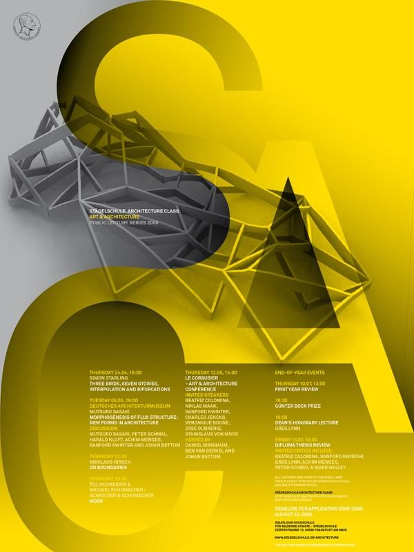 Beautiful poster for Städelschule Architecture Class — Part 2.   (So nice, I had to pin it twice.)
