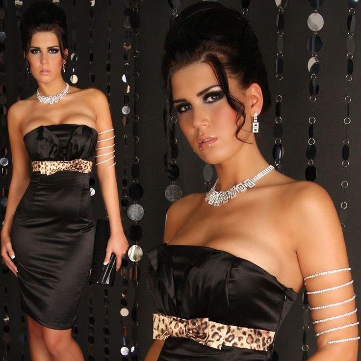 Fekete leo masnis ruha - Női ruha webáruház, női ruhák online - HG Fashion