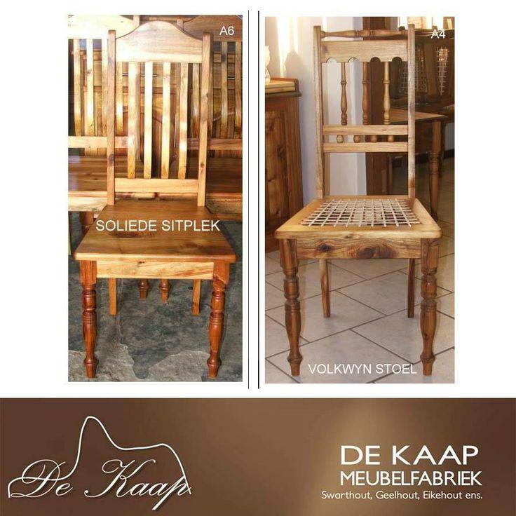 At De Kaap Meubelfabriek we have a gorgeous range of chairs to suit any room * By De Kaap Meubelfabriek het ons pragtige verskeie stoel wat sal pas in enige vertrek. #solidwood #furniture