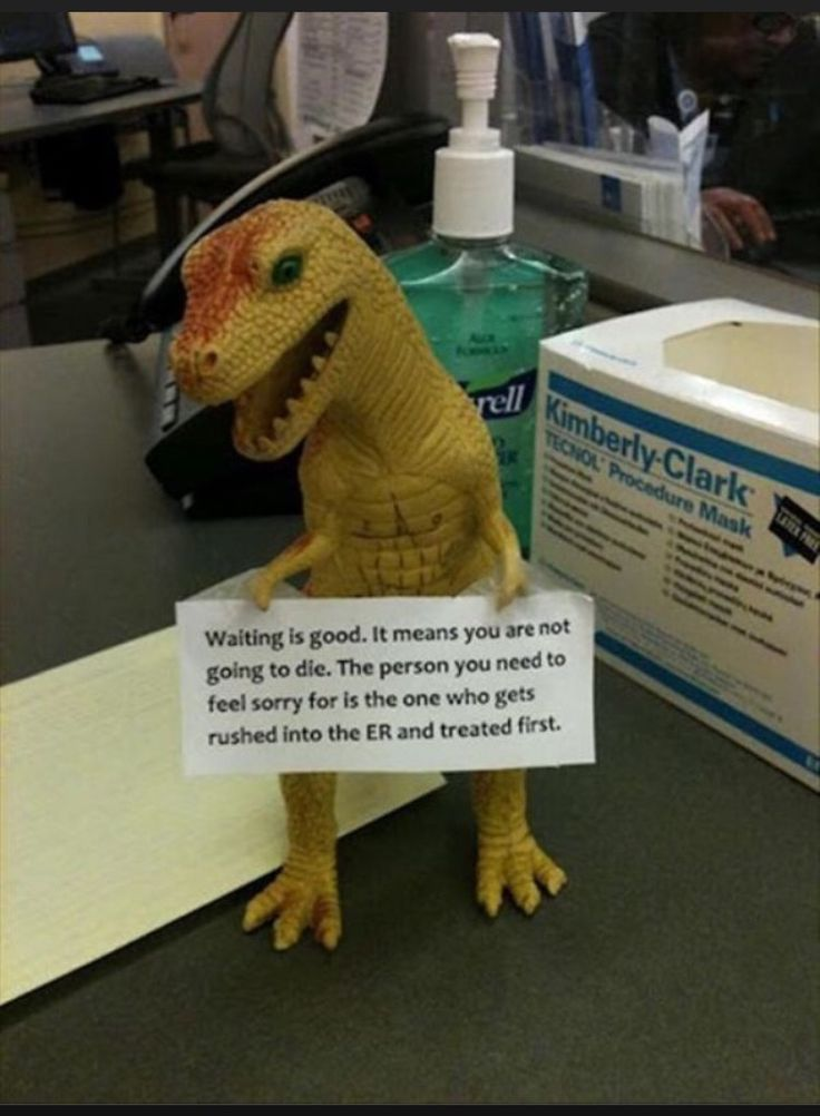This should be prominently displayed in all emergency department waiting rooms