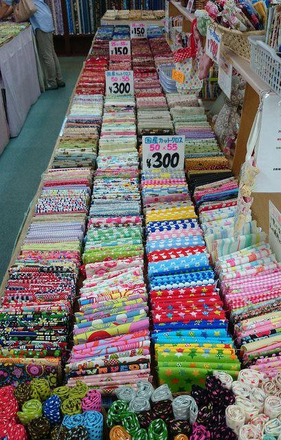 Littlelixie Fabric -- Tomato at Nippori Fabric Town, Tokyo