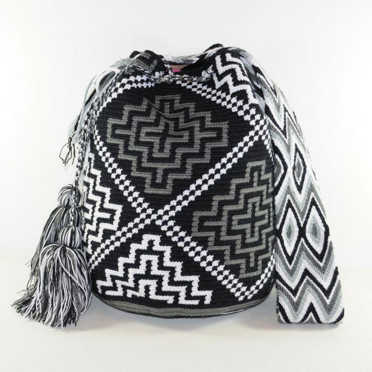 Black, white &grey #mochila #wayuu available