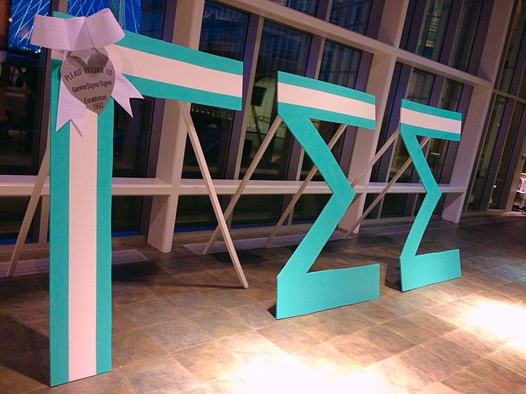 gamma sigma sigma tiffanys themed large wood greek letters
