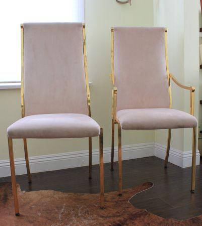 Brass Hollywood Regency Dining Chairs Losangelescraigslistorg
