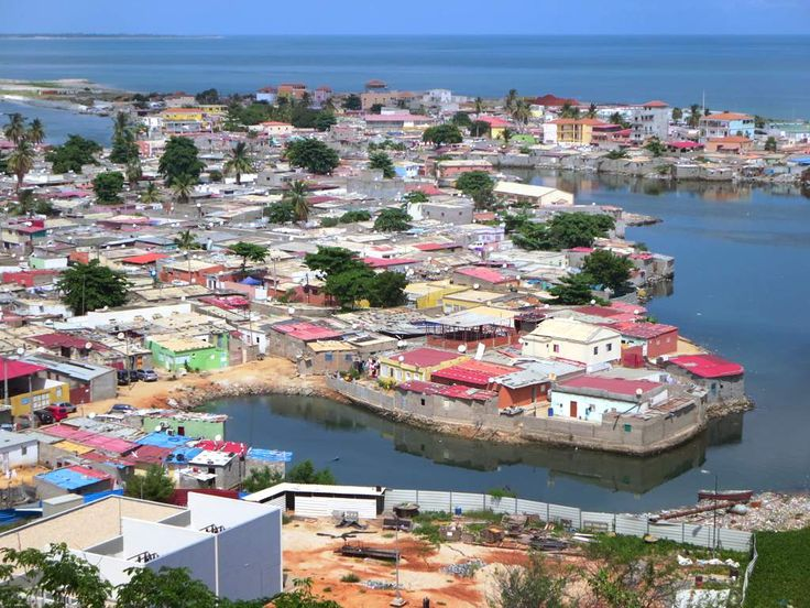 The crowded Chicala township in Luanda is only a few blocks from the Cidade Alta where Angola's president and other dignitaries live and work.