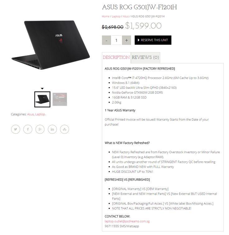 Super Cool Cheap laptop + Asus Laptop Singapore + Refurbished laptop