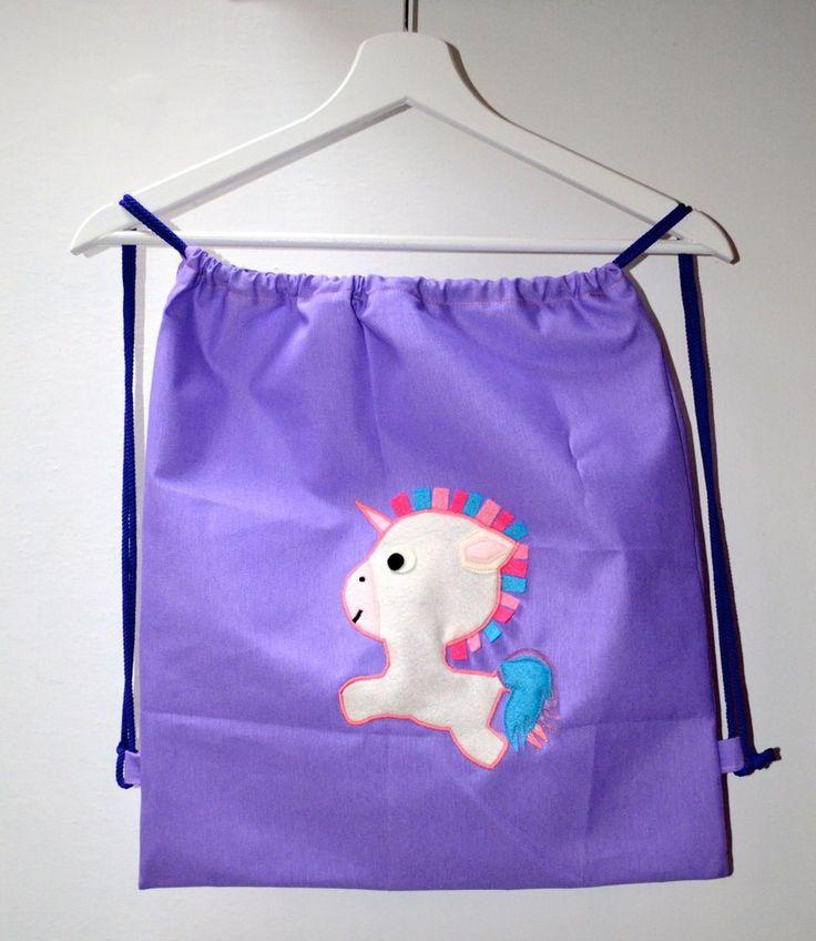 Zainetto lilla con unicorno, by Mywonderland, 15,00 € su misshobby.com