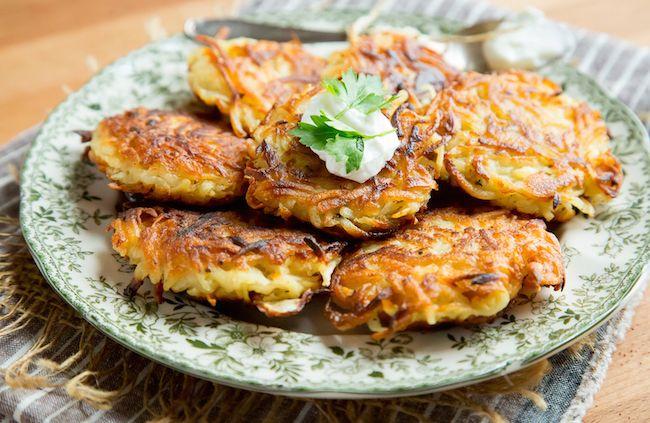 Crispy Parsnip and Potato Latkes Recipe