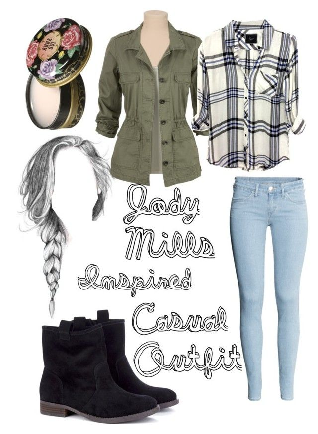 """""""Jody Mills Inspired Casual Outfit"""" by oliviakaz2y5 ❤ liked on Polyvore featuring Rails, H&M, Sole Society and Anna Sui"""