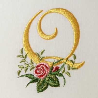 Heirloom Roses Alphabet- Q