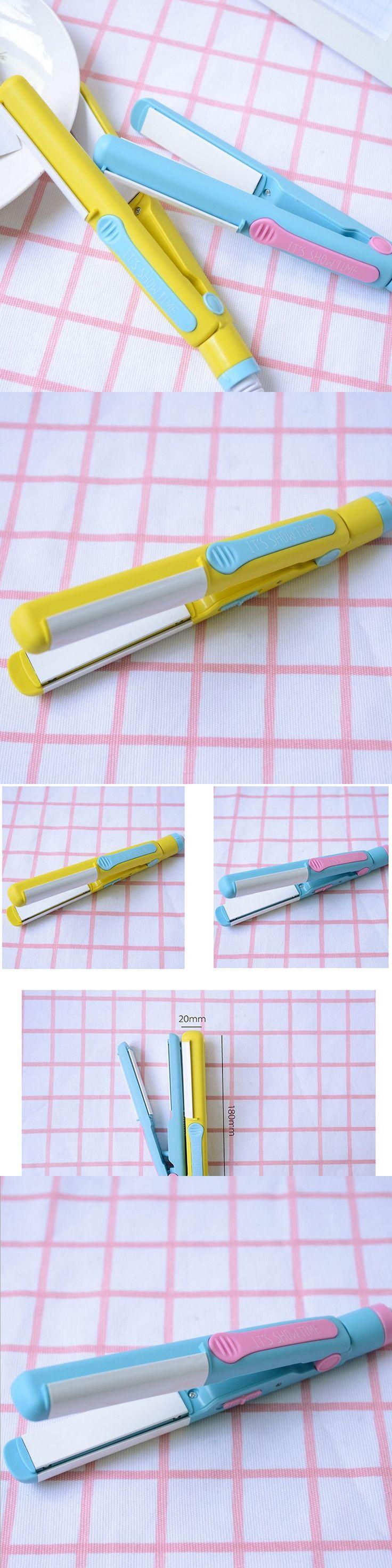 At Fashion Ceramic hair straightener Brand New Plastic Korean Design Small hair straightener and Electric hair curler 220V