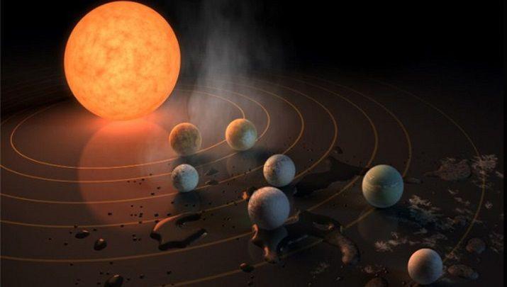 Biliyor muydun ? /// NASA'dan çok önemli keşif! Gökbilimciler, tek bir yıldızın etrafında dönen Dünya boyutlarında 7 gezegen keşfetti.