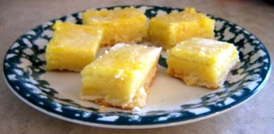 Lemon Bars Recipe - from melaniecooks.com - #lemon #dessert