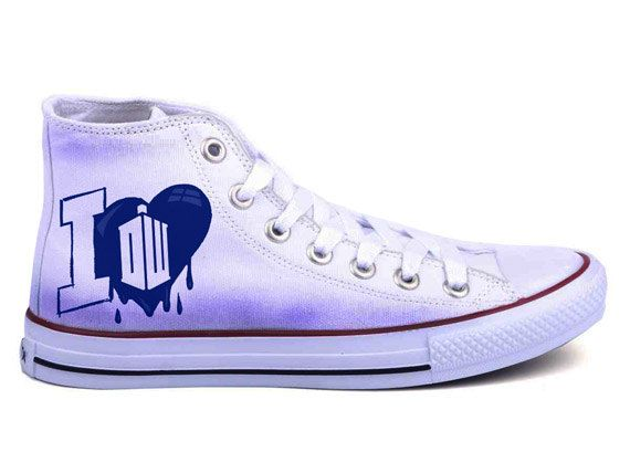 Doctor Who Converse Shoes by BifrostShoes on Etsy, $60.00