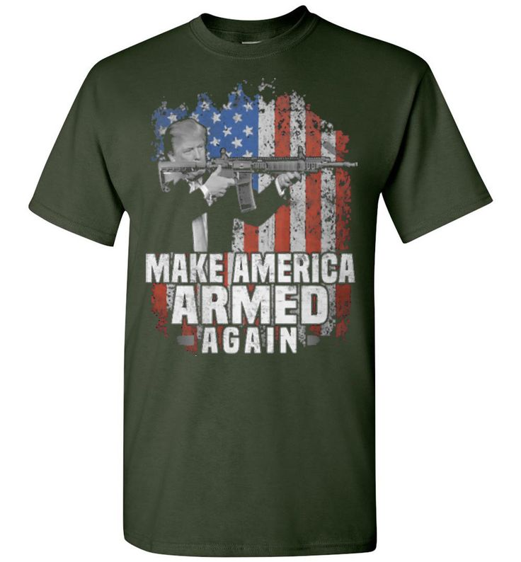 Short-sleeve T-shirt Make America Armed Again- Tshirt online for Men's - Independence Day 2nd Amendment T-shirt Online