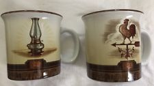 Cracker Barrel Oil Lamp And Weather Vain Coffee Cup Collectible