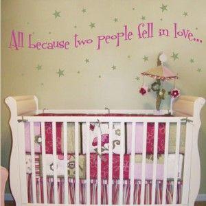 Must have!Nurseries Wall, People Fell, Nursery Walls, Kids Room, Wall Decals, Wall Quotes, Baby Room, Nurseries Ideas, Baby Cribs