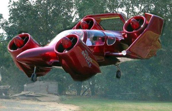 The Moller Skycar M400 in action.