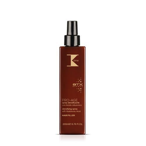 SPRAY DENSIFICANTE | Arricchito con acido Ialuronico, lo spray #ProAge di #Ktime aiuta a conferire ai capelli maggiore resistenza e luminosità, a combattere le doppie punte e a e riparare le cuticole.