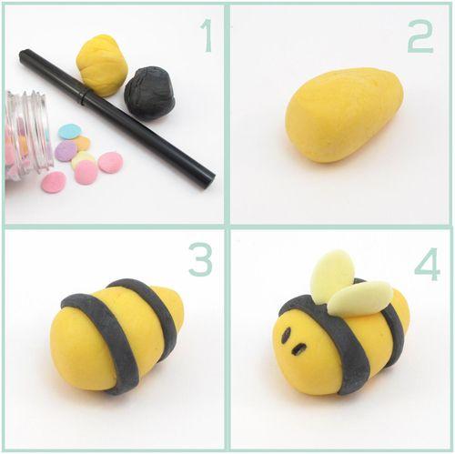 Como hacer abejas de fondant para Baby Shower